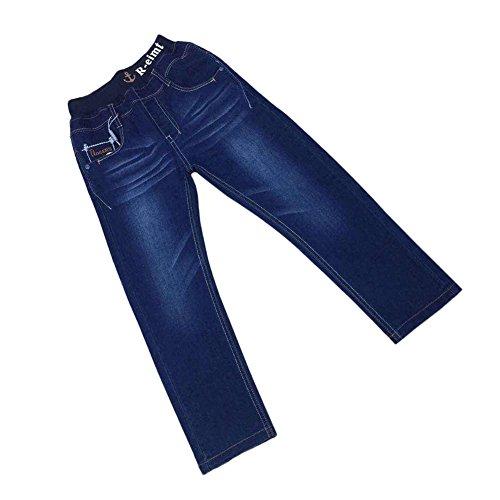 Zier bambini ragazzi lunghi del denim dei jeans mutanda casuale Pull Up elastico regolabile DY33599