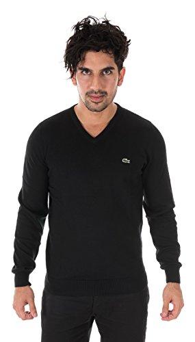Lacoste TRICOT V-Neck Sweater BLACK/NAVY BLUE-WHITE AH1896-51-5EN