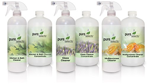 Pure Selects Household Cleaner Concentrate Bundle • ALL NATURAL • HYPOALLERGENIC • Fragrance & Dye Free • Plant Derived • GREEN • CLEAN • SAFE • See details for a list of products in the bundle (Natural Household Products compare prices)
