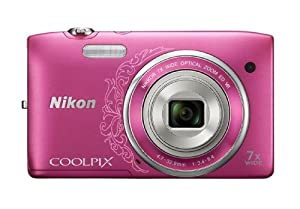 Nikon COOLPIX S3500 20.1 MP Digital Camera with 7x Zoom (Decorative Pink) (OLD MODEL)