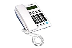 talktel caller id f6 white phone in big buttons