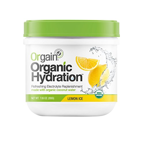 Orgain Organic Hydration Powder, Lemon Ice, 7.05 Ounce, 1 Count (Coconut Hydration Mix compare prices)