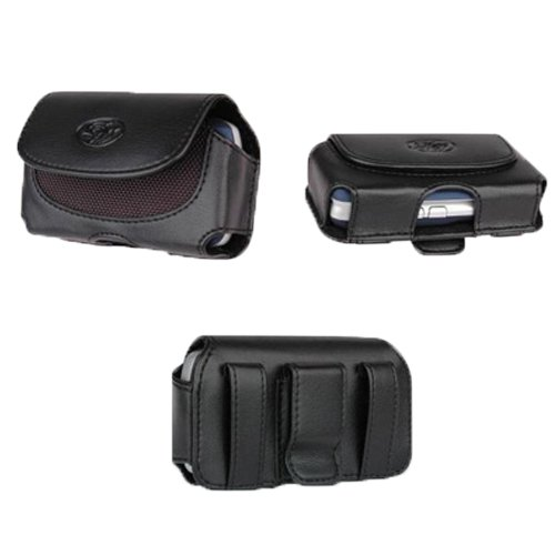 Leather Case Cover Side Horizontal Pouch Holster With Belt Clip and Magnetic Closure For Tmobile Samsung Gravity T 3 Smiley T359 Behold T919 Comeback T559 Highlight SCH T749 Dart Memoir SGH T929- Auction4tech Brand (Samsung Dart Case compare prices)