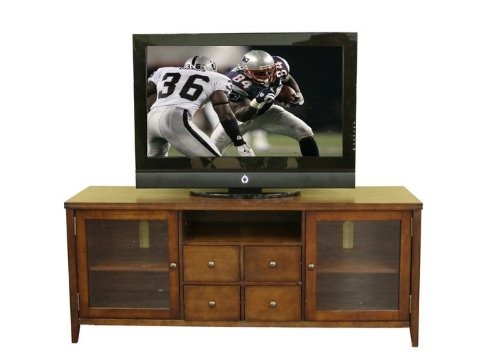 Cheap Entertainment TV Stand Console Table – Dark Oak Finish (VF_WI-88641-RUSTIC)