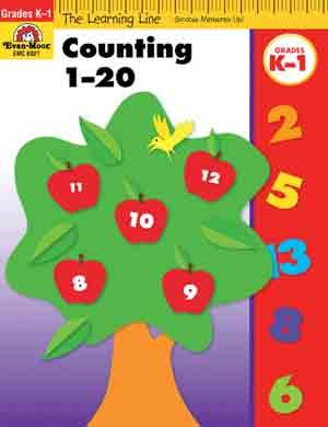 Learning Line: Counting 1-20, Grades K-1 - Activity Book - 1