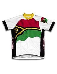 Vanuatu Flag Short Sleeve Cycling Jersey for Women