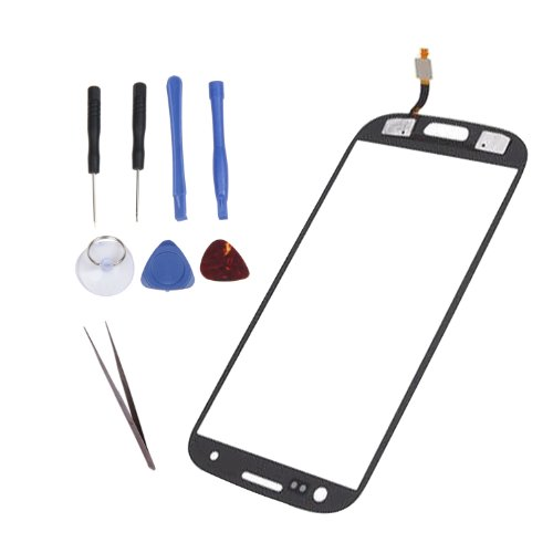 Iwoo Replacement Touch Screen Digitizer Glass Lens For Samsung Galaxy Siii S 3 Iii I9300 + Tools (Black)