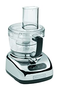 KitchenAid KFP740CR 9-Cup Food Processor with 4-Cup Mini Bowl, Chrome