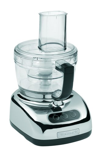KitchenAid KFP740CR 9-Cup Food Processor with 4-Cup Mini Bowl, Chrome