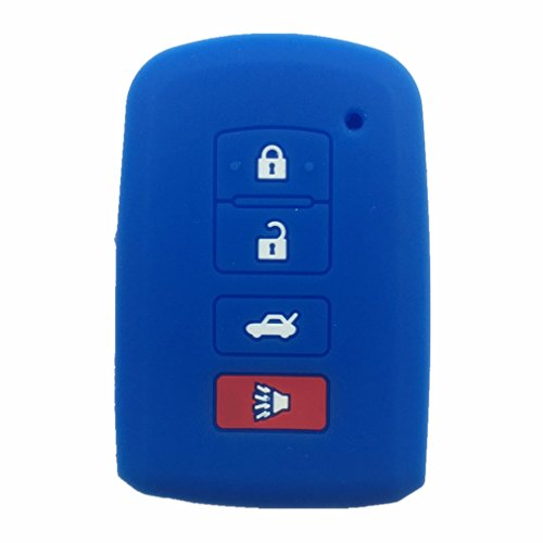 New Blue Silicone 4 Buttons Smart Key Cover Case Holder for 2012 2013 2014 2015 Toyota Avalon Camry RAV4 (2015 Toyota Rav4 Key Cover compare prices)