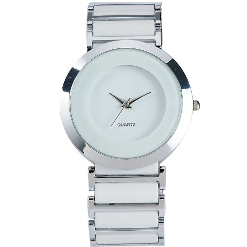 AMPM24 Women Lady Mens Silver White Sport Quartz Wrist Watch Gift