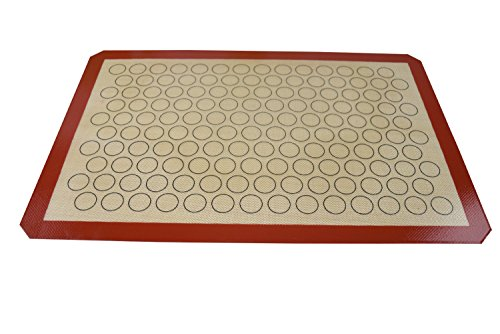 homankit Tapis de cuisson en silicone anti-adhésif Rouge violacé Bordure pour Macaron avec surface réutilisable jaune (40x 60cm)