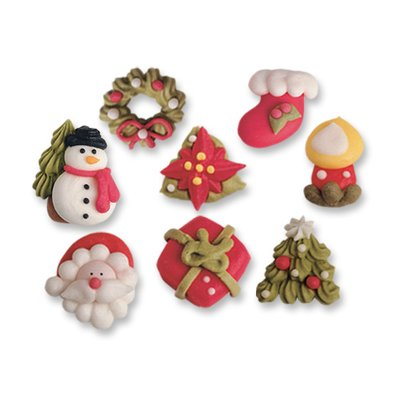 Sugar Cake Decorations Christmas