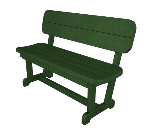 Poly-Wood Park 48-Inch Bench, Green