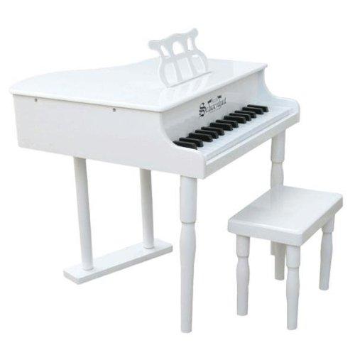 Schoenhut White 30 Key Classic Baby Grand with Bench