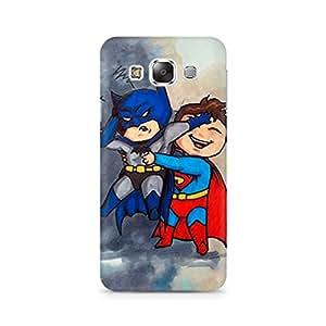 Ebby Batman and Superman Kids Premium Printed Case For Samsung E5
