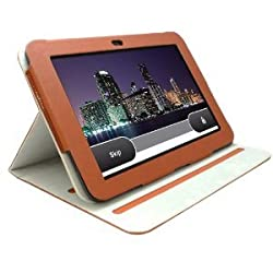 KHOMO Brown Standing Leather Case for Amazon Kindle Fire HD 8.9'' inch 4G LTE Tablet