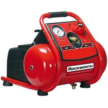 Rockworth RW1503TP 3-Gallon Factory Reconditioned Trim Finish Electric Air Compressor