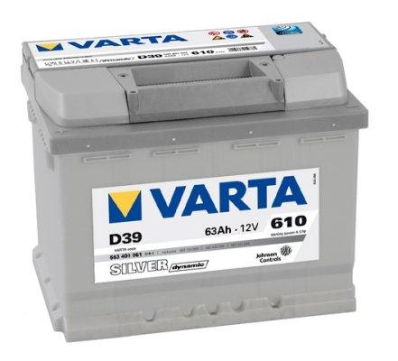 VARTA SILVER DYNAMIC AUTOBATTERIE D39 12V 63AH