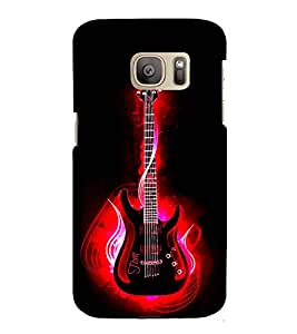Red Guitar Back Case Cover for Samsung Galaxy S7