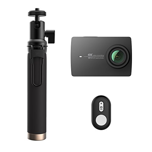 YI 4K Action Camera with Selfie Stick & Bluetooth Remote (US Edition