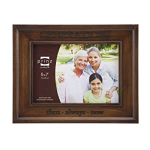Prinz Generations Wood Photo Frame, 5 by 7-Inch