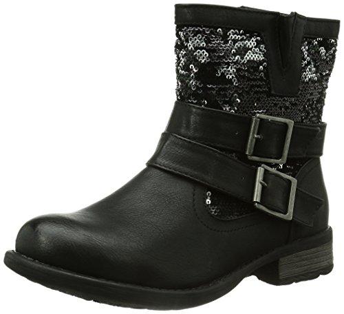 Rieker 97263 - Stivaletti Donna, Nero (schwarz/schwarz-silber / 00), 42 EU