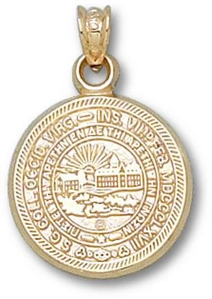 West Virginia Mountaineers Seal Pendant - 14KT Gold Jewelry by Logo Art