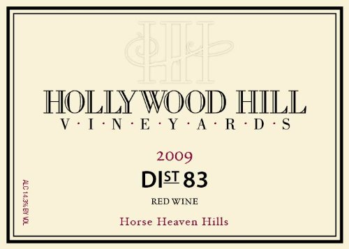 2009 Hollywood Hill Vineyards Horse Heaven Hills Dist 83 Rhone Red Blend 750Ml