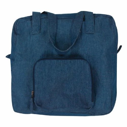 MWW Isabella's Journey Xtra Bag Expandable Tote Bag Denim Blue