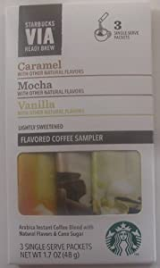 Starbucks Via Ready Brew Caramel Vanilla & Mocha Sample Pack