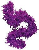 """Deluxe 6 Purple 20s Costume Accessory Feather 72"""" Boa"""
