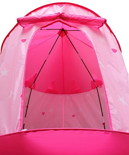 Kids-Tent-by-StepSafe-Girls-Pink-Princess-Castle- & Kids Tent by StepSafe® Girls Pink Princess Castle w Storage Case ...
