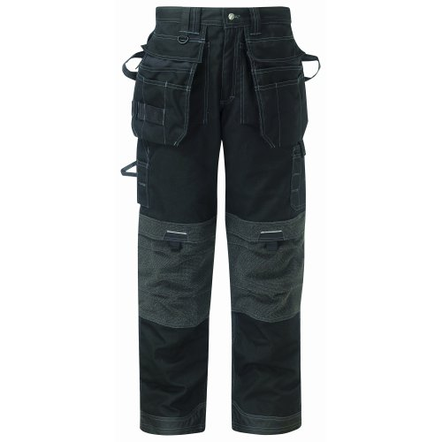 Dickies - Pantaloni da Lavoro Tasche Removibili - Uomo (Girovita 91cm - regolare) (Nero)