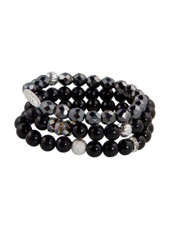 Tyler Mackenzie Designs Jade and Hematite Bracelet Set, Black Jade/Hematite, One Size