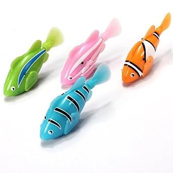 2013 Robo Fish nage poisson robot 4 pile robofish Neuf Comparer les Prix 1