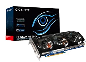 Gigabyte R9 280X GDDR5-3GB DVI-I/HDMI/2xMini DP OC Graphics Card (GV-R928XOC-3GD)