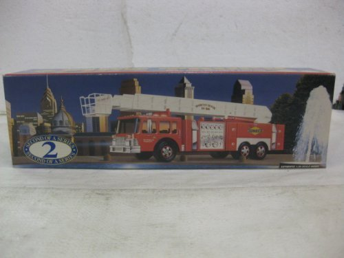 sunoco-aerial-tower-fire-truck-second-in-a-series-in-red-135-scale-by-sun-company