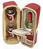 Greenfield Collection Deluxe 2-Person Wine Cooler Bag - Mulberry Red
