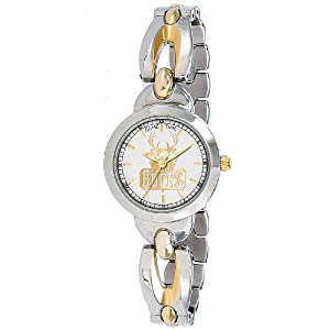 NBA Ladies BE-MIL Elegance Series Milwaukee Bucks Watch by Game Time