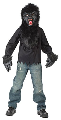 Boys Gorilla Mask Gloves Kids Child Fancy Dress Party Halloween Costume