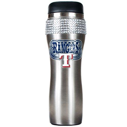 MLB Texas Rangers 16-Ounce Stainless Steel Bling Tumbler