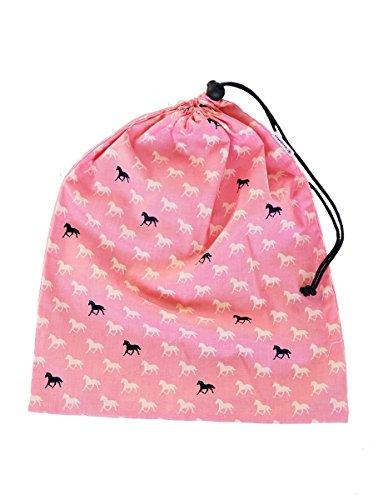 "'boubalou Turn sacchetto ""rosa Mustangs in tessuto per sport in bambino giardino e scuola"
