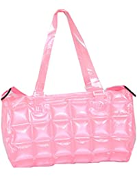 Kuber Industries™ Stylish Shopping Bag,Picnic Bag, Hand Bag In Imported Thick Plastic ,Blow It (Pink) - KI19487 - B07148YM7P