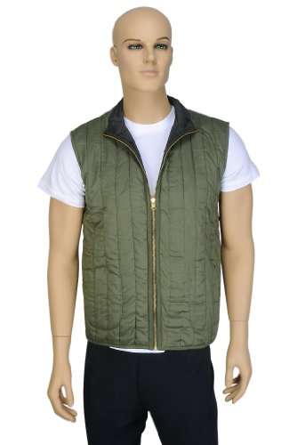 Designer Indian Pretty Look Light Weight Cotton Short Reversible Quilted Mens Jacket Size XL