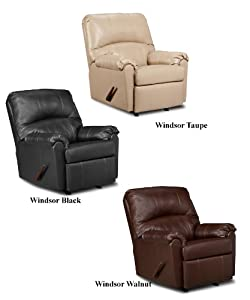 Simmons Taupe Leather 3 Way Rocker Recliner