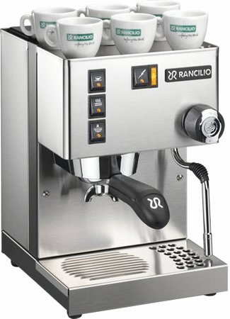 Rancilio Silvia Espresso Machine with Iron Frame and Stainless Steel Side Panels, 11.4 by 13.4-Inch (Coffee Rancilio compare prices)