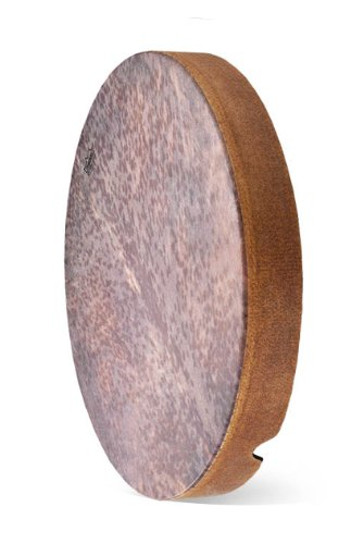 "Remo Tar, Frame Drum, Skyndeep® Fixed Goat Stripe Brown Graphic, 22"" X 3"""