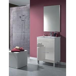 Dekor meuble 60 salle de bain avec miroir - Meuble de salle de bain amazon ...