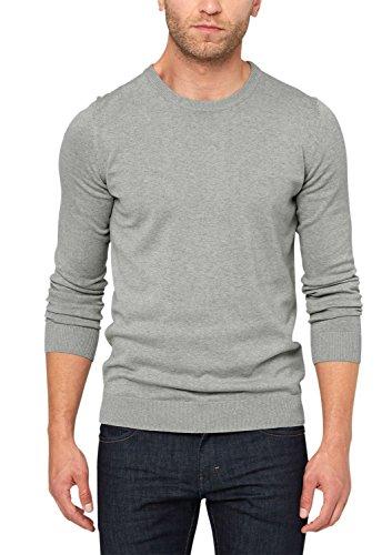 s.Oliver - Rundhals, Maglione da uomo, grigio (medium grey melange 9222), M